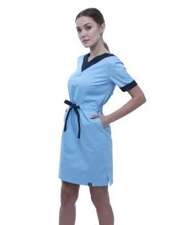 "Sarafan Medical ""V"" Royal-Bleumarin Dama"