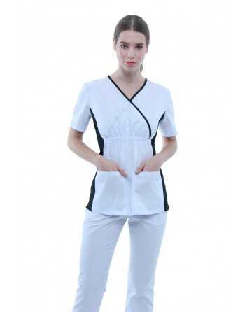 "Costum Medical ""BICOLOR"" Alb"