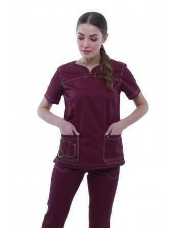 """Costum Medical """"Contrast"""" Violet Dama"""