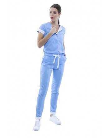 Salopetă Medicală Albastru Royal Dama