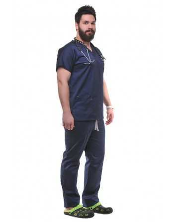 Costum Medical Clasic/Unisex Bleumarin