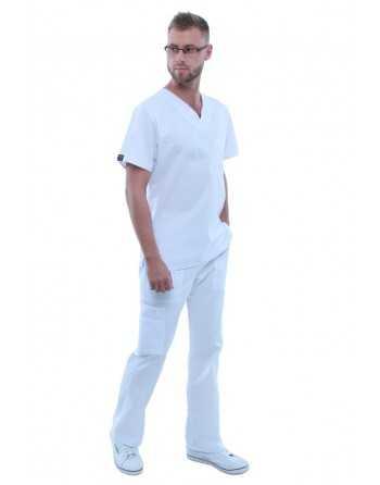 """Costum Medical """"Contrast"""" Alb Barbatesc"""