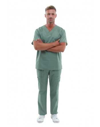 "Costum Medical ""Contrast"" Olive Barbatesc"
