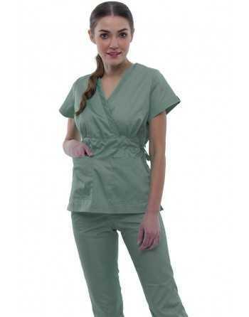 """Costum Medical """"PARTE PESTE PARTE"""" Olive"""