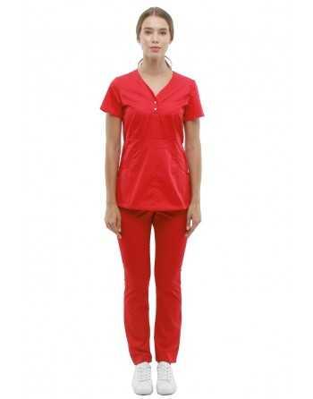 Costum Medical 1181 Rosu