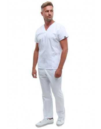 Costum Medical Barbati 0181 Alb