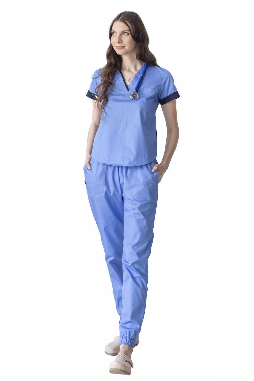 Costum Medical 1489 Albastru Royal