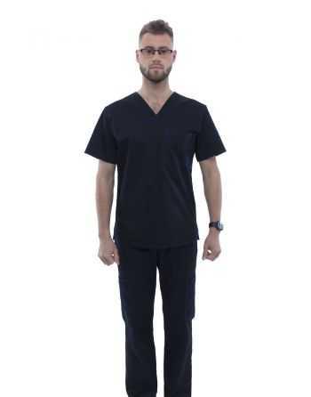 Costum Medical pentru Barbati 0284 Negru