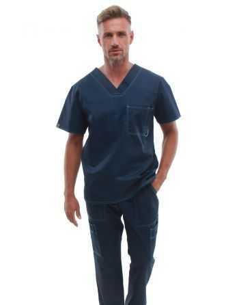 Costum Medical pentru Barbati 0284 Bleumarin