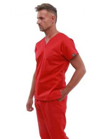 Costum Medical Barbati 0181 Rosu