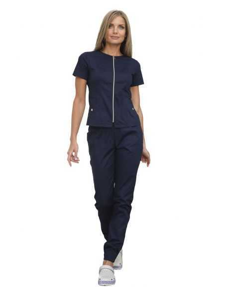 Costum Medical pentru femei 40489 Bleumarin